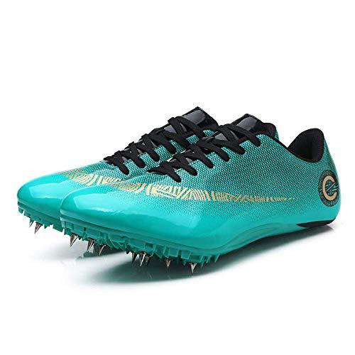 Qianyuyu Pista Y Campo Zapatos Pista y Campo Sprint Estudiante Femenino Corriendo Salto de Longitud Media y Larga Distancia Corriendo Zapatos de Uñas,002,39EU