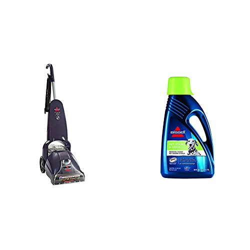Pet Stain Remover Bundle - PowerLifter PowerBrush + Bissell 2X Pet Stain Odor Full Size Machine...