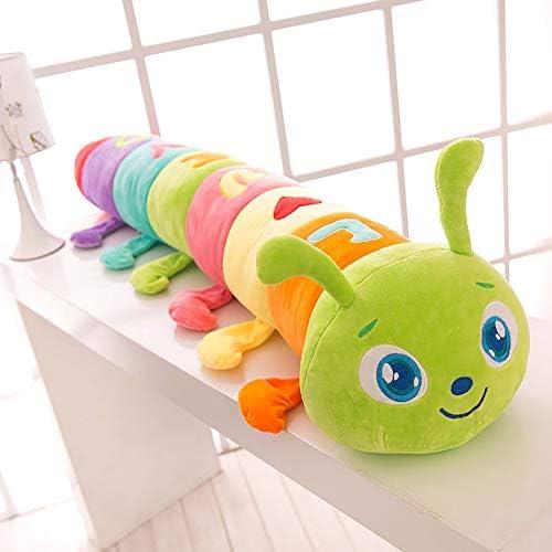GJC Plüschspielzeug-Kissen Creative Cute Farbeful Caterpillar Kissen Kind Doll King Größe,Grün,150CM