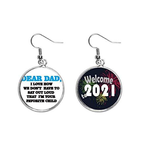 Pendientes con cita del festival Dear Dad Carta 2021 Bendición