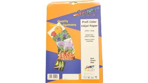 100hojas, marca Start, DIN, tamaño A4, de papel fotográfico satinado para impresoras de inyección, 220g/m², doble cara