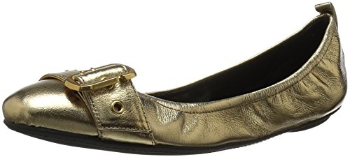 Marc Jacobs Women's Dolly Buckle Ballerina Ballet Flat, Gold, 39 M EU (9 US)