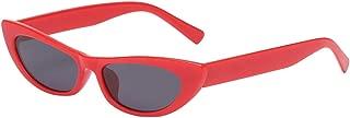 IPOTCH Women Flat Lens Mirror Plastic Frame Small Cat Eye Sunglass Glasses Eyewear