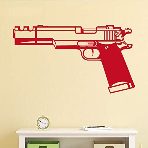 supmsds Start Krieg Waffe Kunst Wandaufkleber Wohnkultur Wohnzimmer Jungen Bedrom Abnehmbare Pistole Wandaufkleber Selbstklebende Backgurand L 43 cm X 76 cm