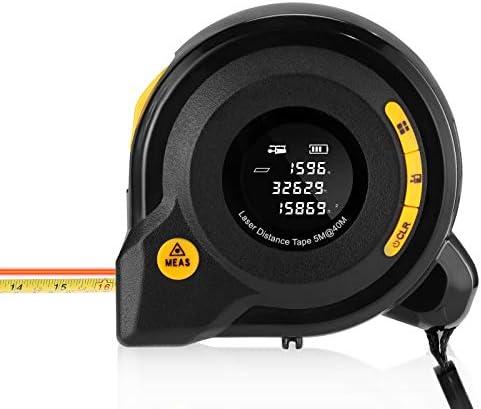 Digital Laser Distance Meter 2 in 1 131ft 40M Laser Rangefinder 16 5ft 5M Tape Measure with product image