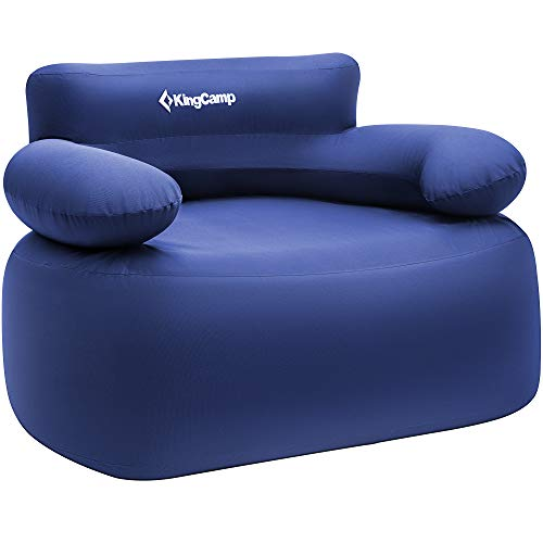 KingCamp Folding Air Sofa Chair Support Up to 660 lbs-Waterproof, Inflatable and Portable Air Sofa for Garden Outdoor Travel Camping Picnic Or Indoor Furniture