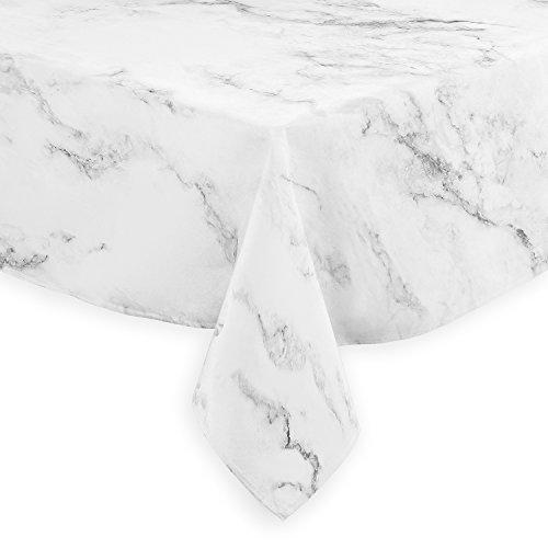 A LuxeHome nero grigio e bianco in stile moderno, marmo tovaglie sala da pranzo cucina quadrato 152,4x 152,4cm