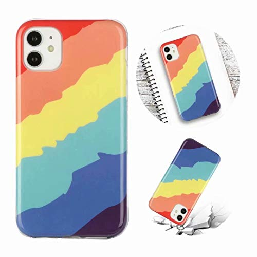 Crossbody Case for Huawei P30 Pro with Butterfly Lanyard Cord Detachable Rope, Shockproof Rainbow Ultra Thin Clear Cover Soft Lanyard Flexible Gel TPU Bumper Protective Phone Case Twill
