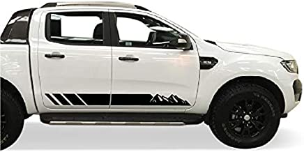 Bubbles Designs Decal Sticker Graphic Side Stripe Kit Compatible with Ford Ranger T6 2011-2017