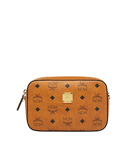 This MCM ® Essential Visetos Original Small Handbag is no ordinary, run of the mill bag. This exquisitely crafted handbag is the ultimate in luxurious fashion! Handbag made of strong, visetos coated canvas. Top zipper closure. Decorative silver-tone ...