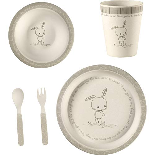 Precious Moments 5 Bunny Gift Mealtime Feeding Set, One Size