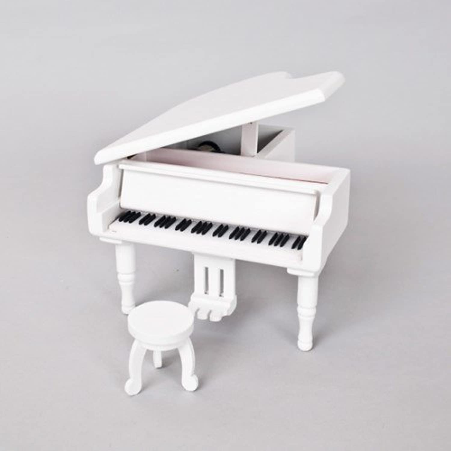 Piano Music box Ring Holders White