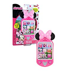 Minnie Mouse isalways on the go, and with her WhyHello. Featuring fun Minnie phrases, phone sounds, and lights. Batteries included. Ages 3+