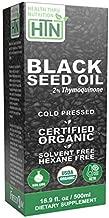 Black Seed Oil 16.9 oz (500ml) Bottle - 2% Thymoquinone (100mg TQ/5ml) 100% Pure Cold Pressed Non-GMO by Health Thru Nutrition