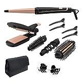 Rowenta Multistyler Infinitos Looks 14 en 1 CF4231 plancha pelo y rizador pelo, tenacillas, rizador de pelo, moldeador, cepillo pelo caliente, revestimiento cerámico, 190 °C, punta fría