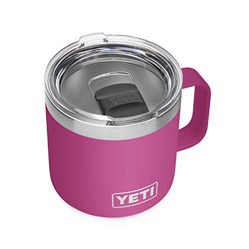 YETI Rambler 14 oz Mug, Vacuum Insulated, Stainless Steel with MagSlider Lid, Prickly Pear