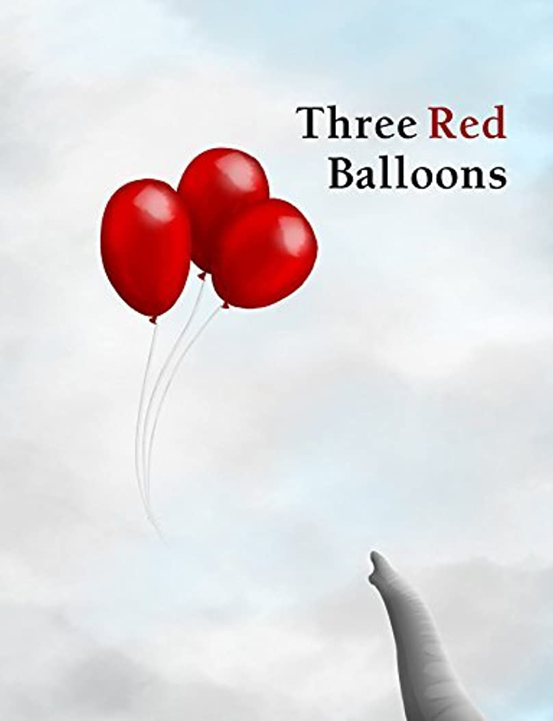 Wordless picture book - Three Red Balloons, a children's story book, bedtime story, ages 1-5, kids books, animal bedtime stories