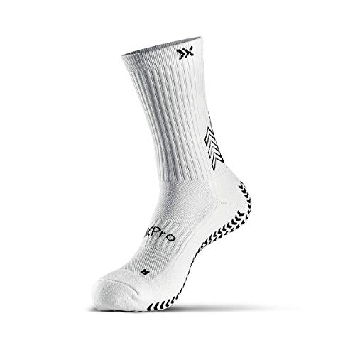 SOXPro,rutschfeste Sportsocken,Grip-Technologie,Fußball,Running,Tennis,Basketball,White,M