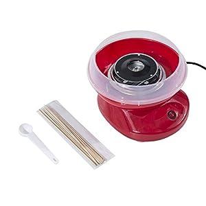 HOMCOM Máquina para Nubes de Algodón de Azucar Acero Inox. y Aluminio 450W 27x26x18cm (Rojo)