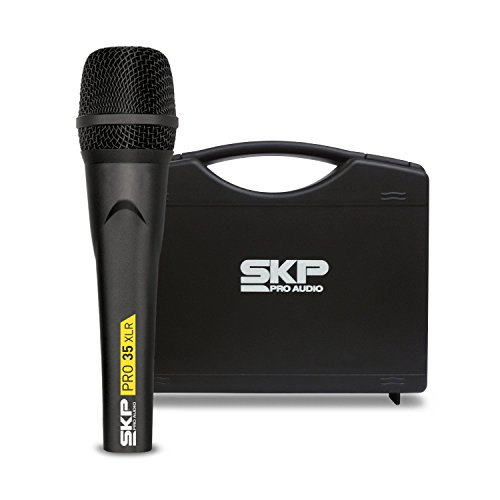 SKP PRO AUDIO PRO-35XLR Dynamic, Cardioid Microphone Made with Germany Capsule, Metallic Body XLR Cable 17ft - (5m) Plastic Case Included