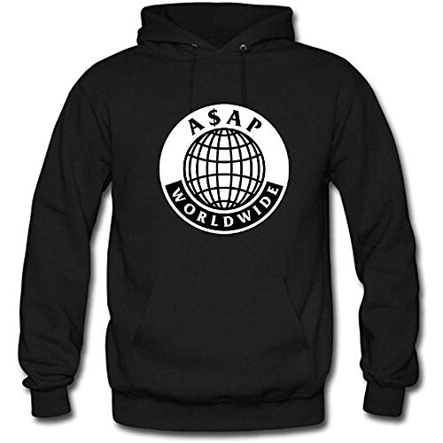 ASAP Rocky Custom Men's Pullover Hoodie Hooded Sweater Black