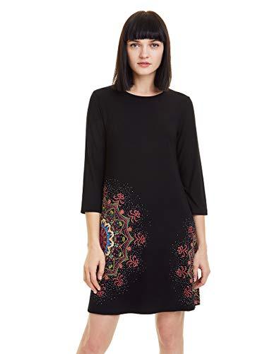 Desigual Damen Dress MARA Kleid, Schwarz (Negro 2000), X-Large (Herstellergröße: XL)