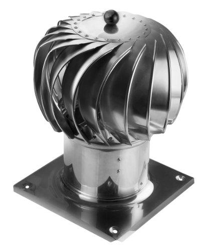 Kaminaufsatz Edelstahl drehbarer Kugelaufsatz Schornsteinaufsatz Lüftungsaufsatz Ø 250 mm Ofen Kamin Lüftung