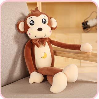 Monkey Plush Toy Long Arm Monkey Doll Doll Cute Little Monkey Ugly Doll Doll Boy Girl Birthday Gift Coffee Color 85Cm