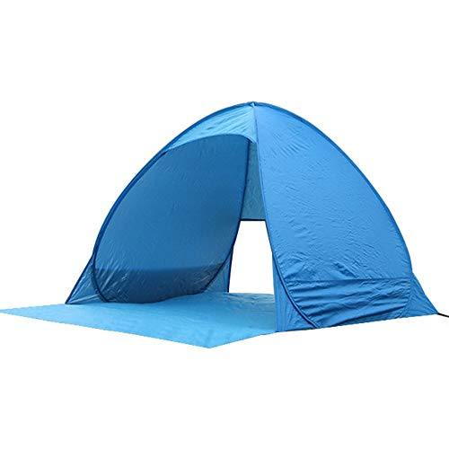 Reeamy-Home Travel Tent Anti-ultraviolet Sunshade And Fast Advertising Double Outdoor Folding Camping Automatic (Color : Blue, Size : 1 people)
