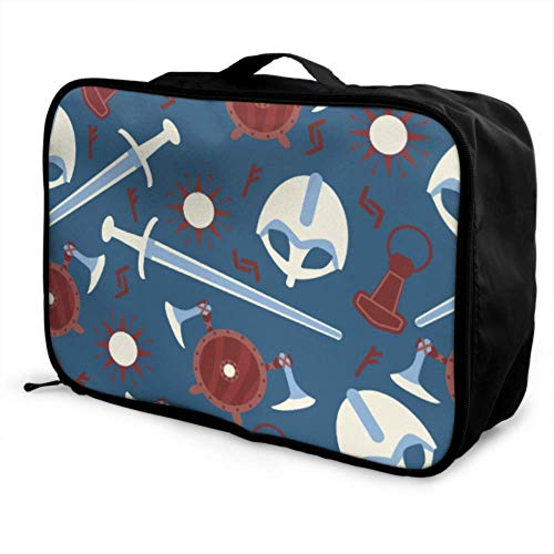 Custom Best Travel Duffel Bag Lightweight Handsome Cool Fun Helmet Locomotive Luggage Garment Bags For Travel Foldable Portable Storage Luggage Bag With Trolley Sleeve