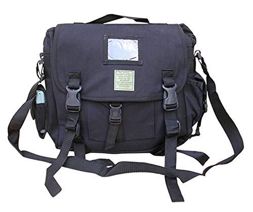 Mens Army Retro Combat Cargo Canvas Travel Shoulder Bag Messenger A4 Satchel Black