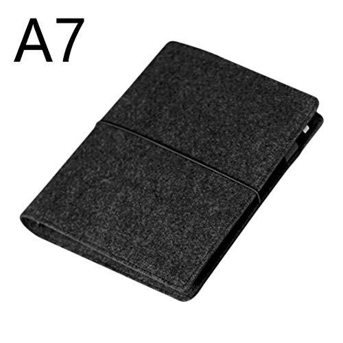 Fühlte Shell Fabric Note Nook Loose Leaf Innenkern A7 Notebook Tagebuch Plan Binder Bürobedarf Ringbuch