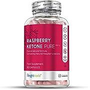 Raspberry Ketone Pure - 1200mg pures Himbeer Keton hochdosiert - Für Abnehmen, Diät und Stoffwechsel - Appetitzügler - Keto Nahrungsergänzung - 90 Kapseln vegan
