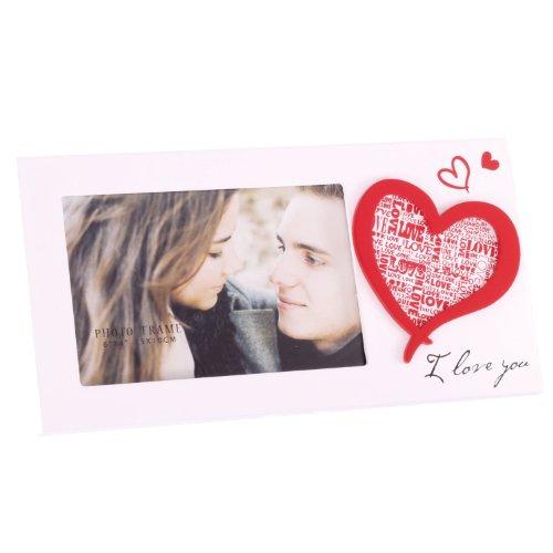 Zep S.r.l. W5146 - Cornice portafoto orizzontale Vanilla linea Love, 10 x 15 cm, white, plastica