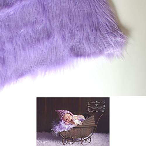 Faux Mongolian Fur Photography Prop, Newborn Prop, Basket Stuffer, Layering Blanket, Rug (Medium, 20'x36', Lavender)