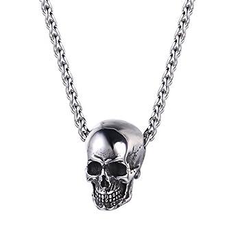 Best silver skull pendant Reviews