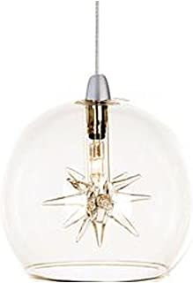 ET2 EP96080-24 Starburst 1-Light RapidJack Pendant RapidJack Pendant, Clear Glass, 12V G4 Xenon Bulb, 50W Max., Dry Safety Rated, Low-Voltage Electronic Dimmer, Shade Material, Rated Lumens