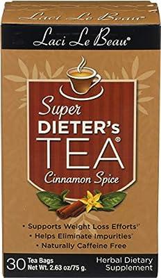 Laci LeBeau Super Dieter's Tea, Caffeine Free- Spice Cinnamon 30 Count from Laci Lebeau