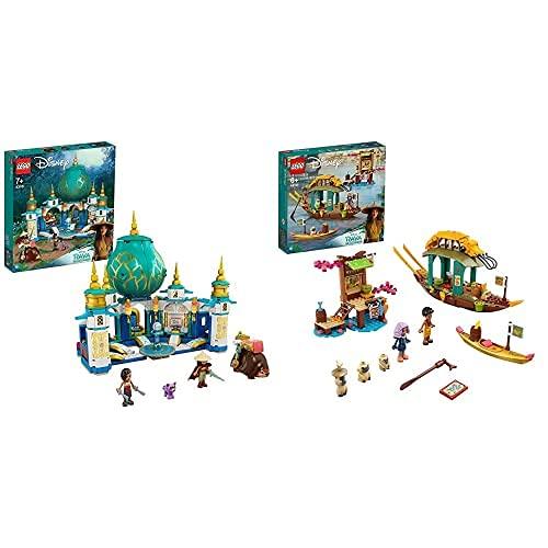 LEGO 43181DisneyPrincesaRayaYElPalacioCorazónCastilloDeJuguete+ 43185 Disney Princesa Barco De Boun Juguete De Construcción con 2 Mini Muñecas De La Película Raya and The Last Dragon