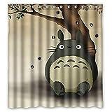 YULIANGE Bad Mein Nachbar Totoro Baum 180X180 cm Duschvorhang Umweltfre&lichen Stoff Wasserdicht-120 * 180Cm