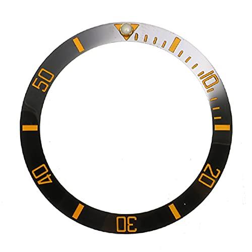 NGHSDO Reloj Bisel Anillo Reloj de 38 mm Bisel de cerámica de cerámica Cara Diámetro Interior 30.7mm Relojes para Hombre Reloj de Relojes de Repuesto Accesorios CeráMica Reloj Bisel Insertar