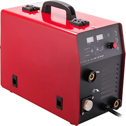 VEVOR Compresor Aire MIG Compresor Aire Silencioso 3-en-1 IGBT Inversor de Soldador Gas/Gasless MMA Compresor Aire...