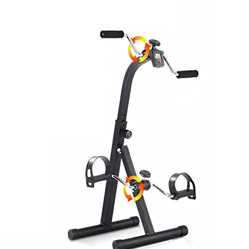 NACHEN Ejercitador de Pedal Plegable para Ancianos, Bicicleta de rehabilitación con Monitor LCD,Bicicleta de Ejercicios para Entrenamiento de rehabilitación de extremidades Superiores e Inferiores