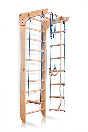 Klettergerüst, Turnwand, Gym Kinder-2-240 Sportgerät, Kletterwand, Holz, Turnwand, Sprossenwand