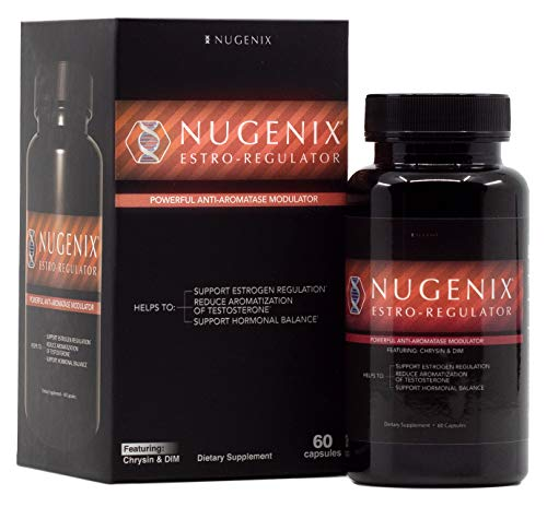 Nugenix Estro-Regulator - Powerful Estrogen Blocker for Men, Testosterone Booster, DIM Supplement, Aromatase Inhibitor - 60 Capsules