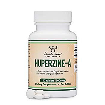 Huperzine A 200mcg  Third Party Tested  Made in The USA 120 Tablets Nootropics Brain Supplement to Promote Acetylcholine Support Memory and Focus by Double Wood Supplements