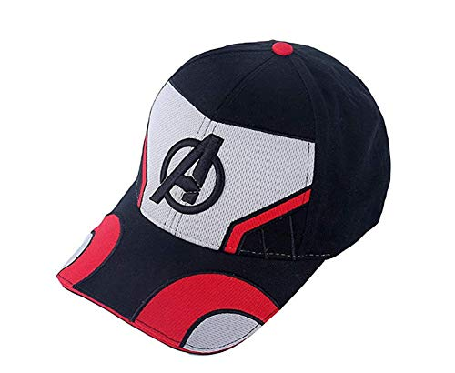 Pandacos The Avengers Endgame Mütze Quantum Baseball Cap 100% Cotton Verstellbar Atmungsaktiv Unisex Hat Cosplay Zubehör Style B