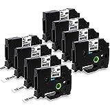 MarkField Compatible Cinta de etiqueta Reemplazo Brother P touch TZe-231 TZ Cassette 12mm x 8m para PT-D200 D400 E110 1000 1005 1010 1080 H101C H105 H107 H108 Cubo, Negro sobre Blanco