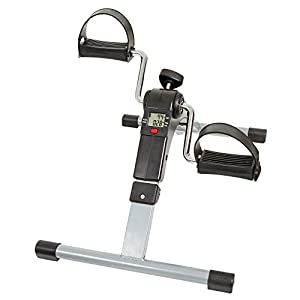 Wakeman Portable Folding Fitness Pedal Stationary Under Desk Indoor Exercise Bike for Arms, Legs, Physical Therapy with Calorie Counter (80-5113)