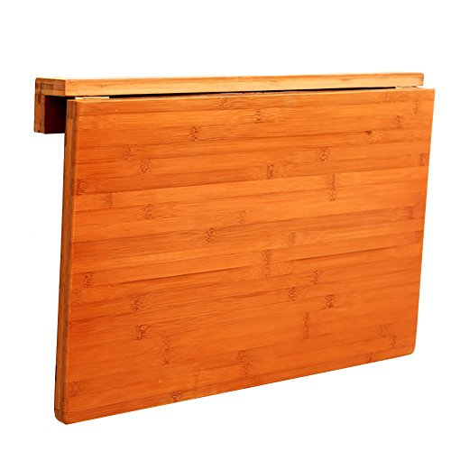 CHGDFQ - Tavolo da pranzo pieghevole in legno massello, tavolo da cucina a parete in legno deciduo (dimensioni: 70 x 45 cm)